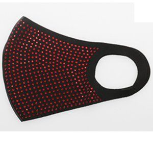 Red Rhinestone Elegant Crystal Face Mask